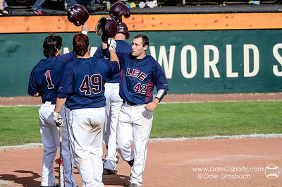 Celebrate !  2013 Avista-NAIA Baseball World Series, Lewiston, Idaho.  Mandatory Credit: Dale Grosbach-Dale G Sports