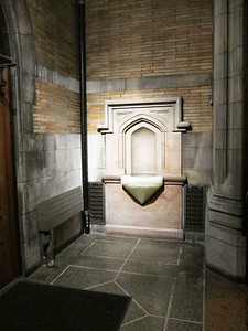 St Ignatius of Antioch: The east side of the vestibule leading to 87th Street.