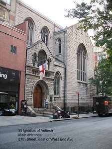 Main concert entrance to St Ignatius of Antioch, 87th Street at West End Avenue
