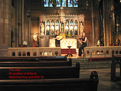 A view of the altar from the Sanctuary, with Asteria rehearsing