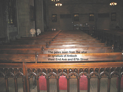 The pews seen from the altar