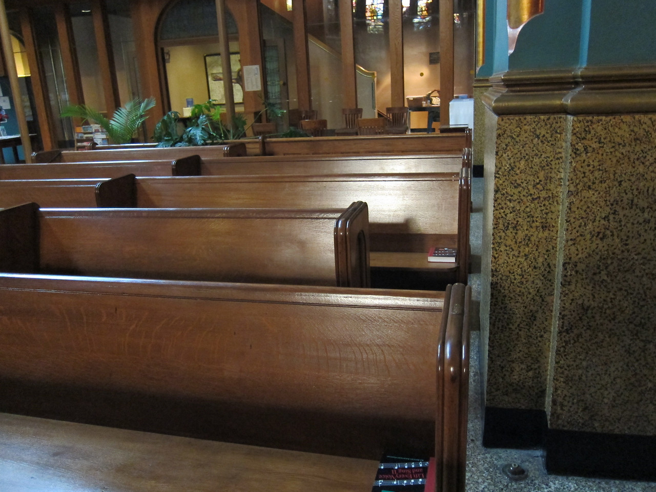 St Michael's Church_2013-11-26_4490_short pew near column