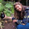 Kathy with eggplant