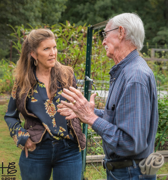 Kathy & Rod in garden