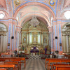 The Highly Decorated Interior Of San Cristobal