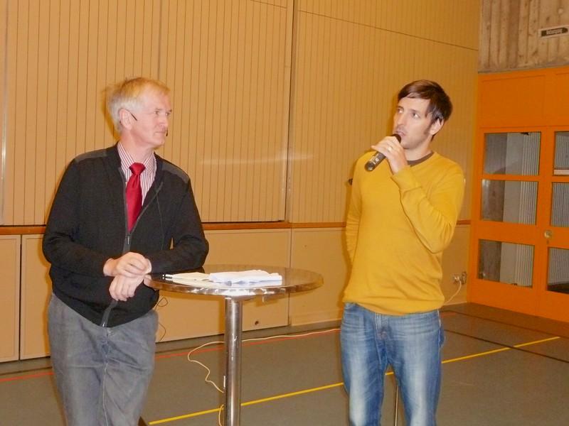 Diskussionsrunde mit Adrian Felber, Jakobspilger