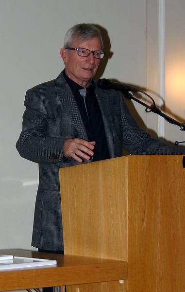 Präsident Willi Korner beim Jahresrückblick über das reiche Geschehen 2015.