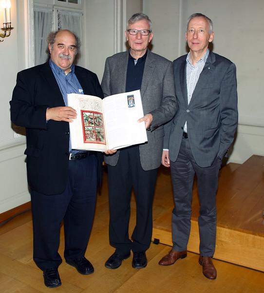 Die beiden neuen Ehrenmitglieder Hermenegild Heuberger und Willi Korner, zusammen mit dem amtierenden  Präsidenten des Kantonsrates Luzern, Franz Wüest, Ettiswil, Mitglied der Heimatvereinigung.