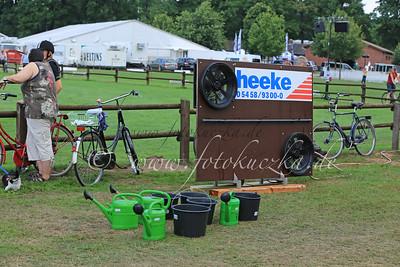 Riesenbeck International Vierspänner, Wasserventilator zum Abkühlen der Pferde