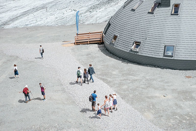 Tourists at Col des Gentianes Verbier