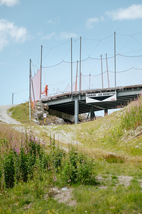 Bridge over a ski slope in Fontanet, Verbier