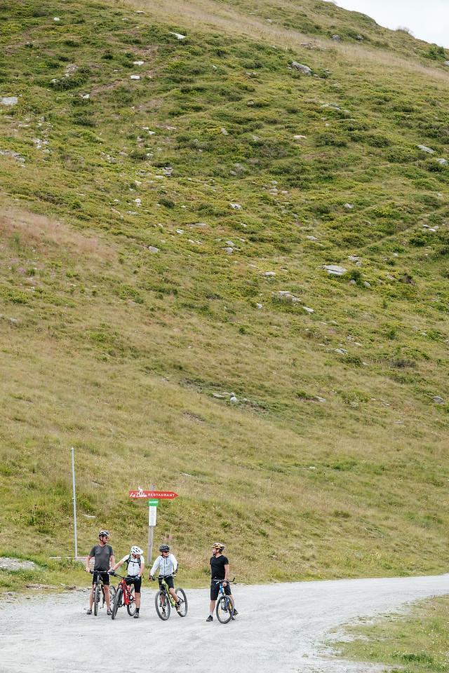 Mountain biking in Les Ruinettes Verbier
