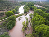 Monsoon flooding on the Verde River, 8/2/16.