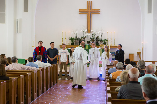 Vergers, Acolytes and Youth at Our Church