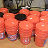Growing Places in Leominster held a vermicomposting basics class on Saturday, February 9, 2019 at The Doyle Room at the Doyle Conservation Area in Leominster. Vermicomposting, or composting with worms, can be done in a worm bin in the comfort of your home. These are the bins that those in the workshop used to make their very own warm bin to take home with them. They consist of  three bins two with holes in the bottoms so worms and moisture can move freely. SENTINEL & ENTERPRISE/JOHN LOVE