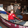 Trent Zachel, of La Salle Michigan at the River Preservation display.