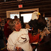 Back to The Wild Director Mona Rutger with the brought back to life eagle.
