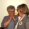 Lynda Ulrich, Mainstreet Manager shares joy with Eileen.