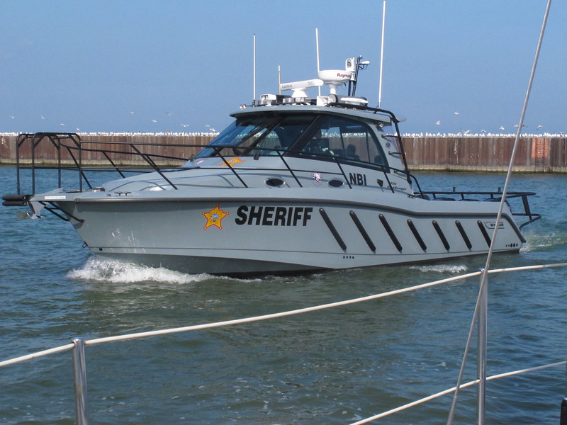 The city of Lorain Sheriff boat is actually docked in Vermilion. not sure why.<br /> <br /> This has three outboard engines, 300 hp each. Would be fun to some day get a Ride.