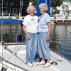 Nancy and boat owner Paula Mealey.