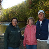 Janet Ford, Margaret Wakefield Worcester and Chuck Worcester as we walked along the Vermilion River.