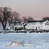 Taken out on the ice, these homes are on the channel from the Lagoons out to Lake Erie.