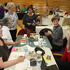 Working on crafts: Patty Coughlan, Peggy Needham, Judy Kernell, Martha Ahrens, Mayya Traboulsi and Sandy Morse.