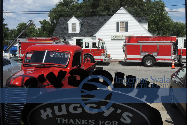 August 27, 2016. Vermilion's Fire Dept. holds an All Day Training on Park Drive at soon-to-be-torn-down Burley Offices.