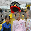 Smiling with Vermilion's Special Duck are....Ian and Erin Sakamoto and friend Jessica Henkel. Ian and Erin's Mother, Sai Ying Yu, was an Exchange student in Vermilion in 1991 and lived with Read and Lynda Wakefield.