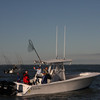 The Dayton/N. Carolina team, I happened to run into out on the lake, also waiting. This boat is brand new, has been in one contest in the Atlantic and now trailered here. 27 feet/two 330hp Mercurys.