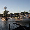 """Mystic Belle in background, is where every boat had to glide by and give the Registration Number and then proceed out toward the lake and for this tournament, every 30 minutes 30 boats were """"released"""", one at a time-very organized as you will see."""