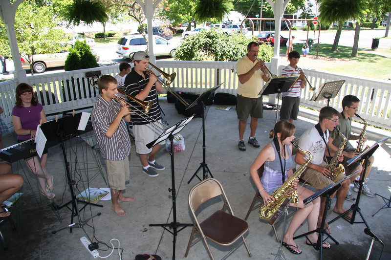 River City Band performing at the Farm Market Gazebo.