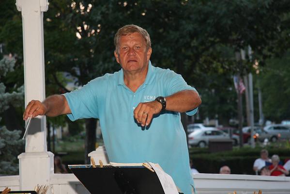 Vermilion Community Concert Band performs at Victory Park in Vermilion, August 8, 2010.