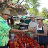 Tomatoe farmer,  Doug Hildebrand with customers