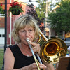 Diane Tucker on trombone.