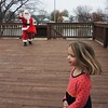 She even followed them out to his sleigh.