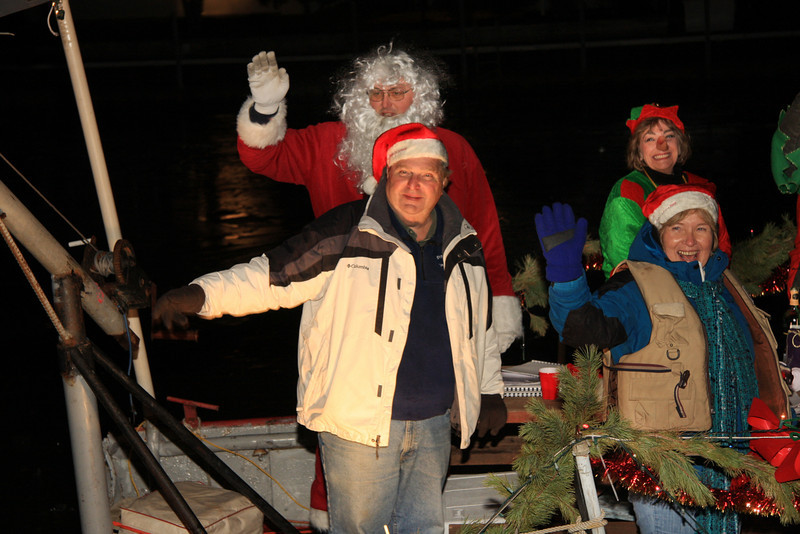 As Jaws is moving on to the next home, Santa and the Bulans waving.