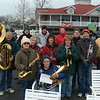 Vermilion's Community Band, taking a break from providing beautiful Christmas music.