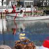 Santa arriving, on boat modified 4244