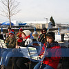 Vermilion's popular and good sounding community Band performed in the COLD the whole time, led by George Herizal.