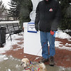 Volunteer Jim Hunt and his Secutiry dog.