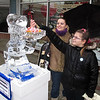 Stephanie and Lisa Landers from Vermilion sampling the Brummers Candy.