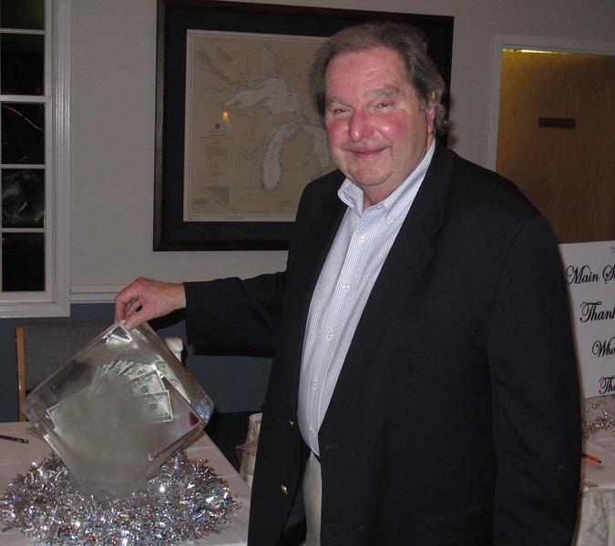 Dick Bulan..Winner of the COLD HARD CASH.raffle.
