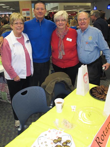 Rotary volunteers: Pam Reese, John Hill, Bobbie and Bob Kyle.