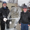 Before the sculpturing starts, Aaron and Dr.Tom Ruh