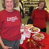 Carolyn Moes choosing some cookies from J. Koachway.