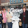 Stopping for a second are: Christina Martin, Vi Davis, Barb Withrow and Gayle Dubovec from Lorain.