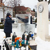 Aaron, President of Elegant Ice, from Medina, has been sculpturing ice figurines for 20 years.
