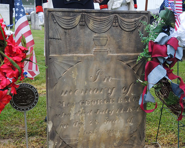 """May 21, 2016. Brownhelm Cemetery. Vermilion's Daughters of American Revolution """"marks"""" Revolutionary War soldiers' gravesites."""