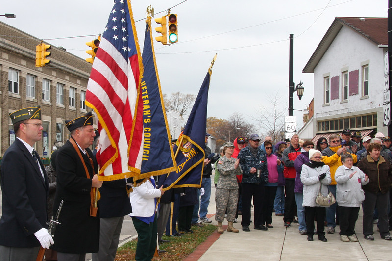 Vermilion always holds a Ceremony downtown---well attended with several speakers.
